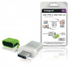 Integral INFD32GBFUS3C Usb Stick Usb 3,0 32 Gb Aluminium/groen