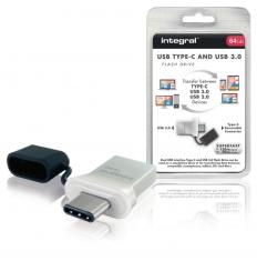Integral INFD64GBFUS3C Usb Stick Usb 3,0 64 Gb Aluminium/zwart