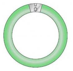 Sylvania UV-Lamp Rond Groen Licht Aura 22W
