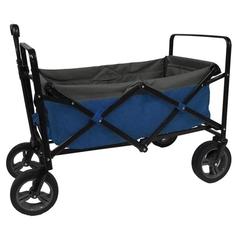 Outdoor Opvouwbare Bolderwagen Blauw/Grijs/Zwart