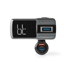 Nedis CATR101BK Fm-transmitter Voor In De Auto Bluetooth Bass Boost Microsd-kaartsleuf Handsfree