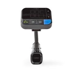 Nedis CATR102BK Fm-zender Voor In De Auto Bluetooth Bass Boost Microsd-kaartopening Handsfree Be