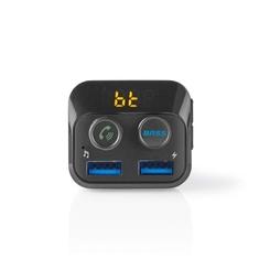 Nedis CATR120BK Fm-transmitter Voor In De Auto Bluetooth Bass Boost Microsd-kaartsleuf Handsfree