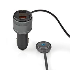 Nedis CATR124BK Fm-zender Voor In De Auto Bluetooth Pro-microfoon Ruisonderdrukking Handsfree Be