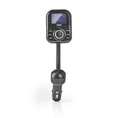 Nedis CATR300BK Dab+/fm-zender Voor De Auto Bluetooth Microsd-kaartslot Handsfree Bellen 2x Usb
