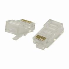 Nedis CCGB89300TP Netwerkconnector Rj45 (8p8c) Male - 10 Stuks Transparant