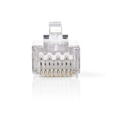 Nedis CCGB89306ME Netwerkconnector Rj45 (8p8c) Male - 10 Stuks Metaal