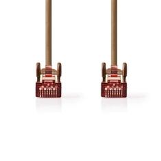 Nedis CCGP85221BN100 Cat6 S/ftp-netwerkkabel Rj45 Male - Rj45 Male 10 M Bruin
