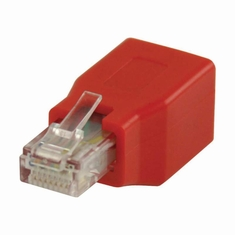 Nedis CCGP89251RD Cat6 Crossover-netwerkadapter Rj45 Male - Rj45 Female Rood