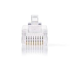 Nedis CCGP89300TP Netwerkconnector Rj45 Male - Voor Solid Cat5 Utp-kabels 10 Stuks Transparant