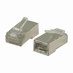 Nedis CCGP89302ME Netwerkconnector Rj45 Male - Voor Solid Cat5 U/ftp-kabels 10 Stuks Metaal