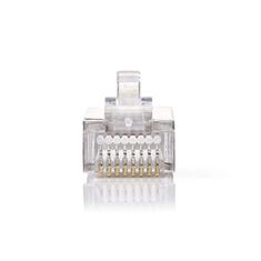 Nedis CCGP89303ME Netwerkconnector Rj45 Male - Voor Stranded Cat5 U/ftp-kabels 10 Stuks Metaal