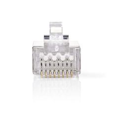 Nedis CCGP89306ME Netwerkconnector Rj45 Male - Voor Solid Cat6 U/ftp-kabels 10 Stuks Metaal