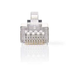Nedis CCGP89307ME Netwerkconnector Rj45 Male - Voor Stranded Cat6 U/ftp-kabels 10 Stuks Metaal