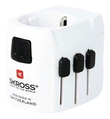 Skross SKR1302540 Reisadapter Wereld Pro+ Usb Geaard