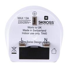 Skross SKR1500225E Travel Adapter World-to-uk Earthed
