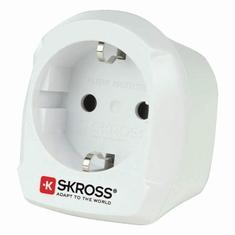 Skross SKR1500230E Reisadapter Europa-naar-uk Geaard