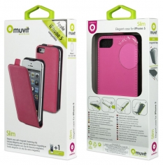 Muvit Slim Case Roze voor Apple iPhone 5/5S