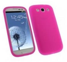 Silicon Case Roze voor Samsung i9300 Galaxy S III