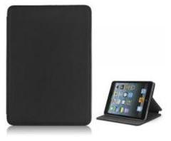 Leder Beschermtasje Standaard Book Style T-Design Zwart voor iPad mini