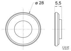 Visaton VS-2910 Miniature Loudspeaker 50 Ω 2 W