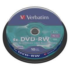 Verbatim DVDVER00072B 10x Dvd-rw 4.7 Gb