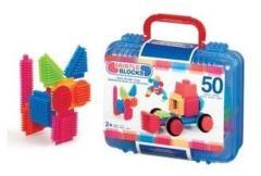 Bristle Blocks Koffer met 50 Stuks