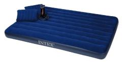 Intex 68765 Queen Classic Downy Airbed, Kussens en Pomp 152x203x22cm