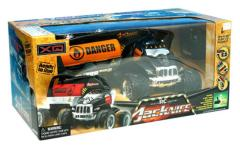 RC Jacknife 4x4 Stunt Truck met Aanhanger 1:10