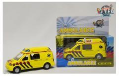 Kids Globe Pull Back Ambulance Met Geluid
