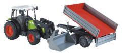 Bruder 2112 Tractor Claas Met Aanhanger