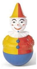 Rolly Toys 221141 Roly-Poly Clown met Geluid