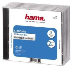 Hama 44745 CD Box Dubbel 5 Pak Geseald