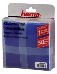 Hama 51067 CD/DVD Plastic Hoesjes 50 Stuks