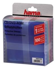 Hama 51068 CD/DVD Plastic Hoesjes 100 Stuks