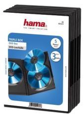 Hama 51272 DVD 3 Box 5 Pak Zwart