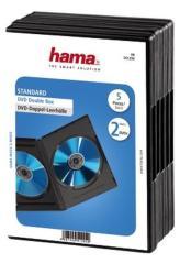 Hama 51294 DVD Dubbel Box Zwart 5Pak