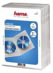Hama 083894 Dubbele DVD Box Transparant 5stuks