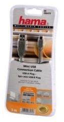 Hama USB Kabel A-Mini B 3 Meter