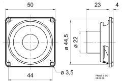 "Visaton Vs-frws5 sc/8 Full-range Luidspreker 5 cm (2"") 8 Ohm"