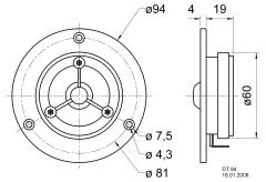 "Visaton Vs-dt94/8 Dome Tweeter 20 mm (0,8"") 8 Ohm"