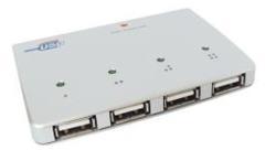 Vivanco USB Hub 2,0 S4 Slim Aktief