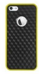 Katinkas Siliconen Case Fiber Zwart/ Geel voor Apple iPhone 5/ 5S