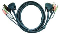 Aten 2L-7D03UD Kvm Combination Cable Dvi-d/usb/audio