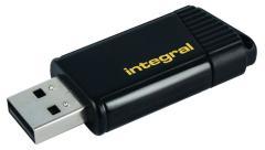 Integral INFD64GBPULYL Usb Stick Usb 2,0 64 Gb Zwart/geel