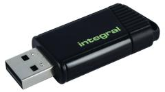 Integral INFD128GBPULGR Usb Stick Usb 2,0 128 Gb Zwart/groen