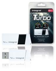 Integral INFD64GBTW3,0 Usb Stick Usb 3,0 64 Gb Wit/zwart