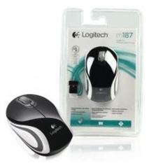 Logitech LGT-M187B Draadloze Mini Muis Zwart