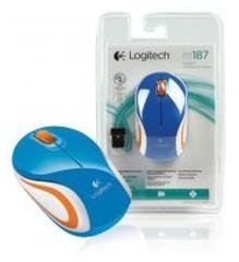Logitech LGT-M187 BU Blauwe M187 Draadloze Mini Muis