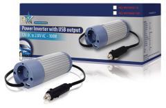 HQ INV100U-12 Omvormer 12V>230V 100W met USB
